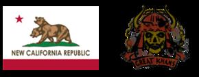 NCR flag and Great Khan emblem